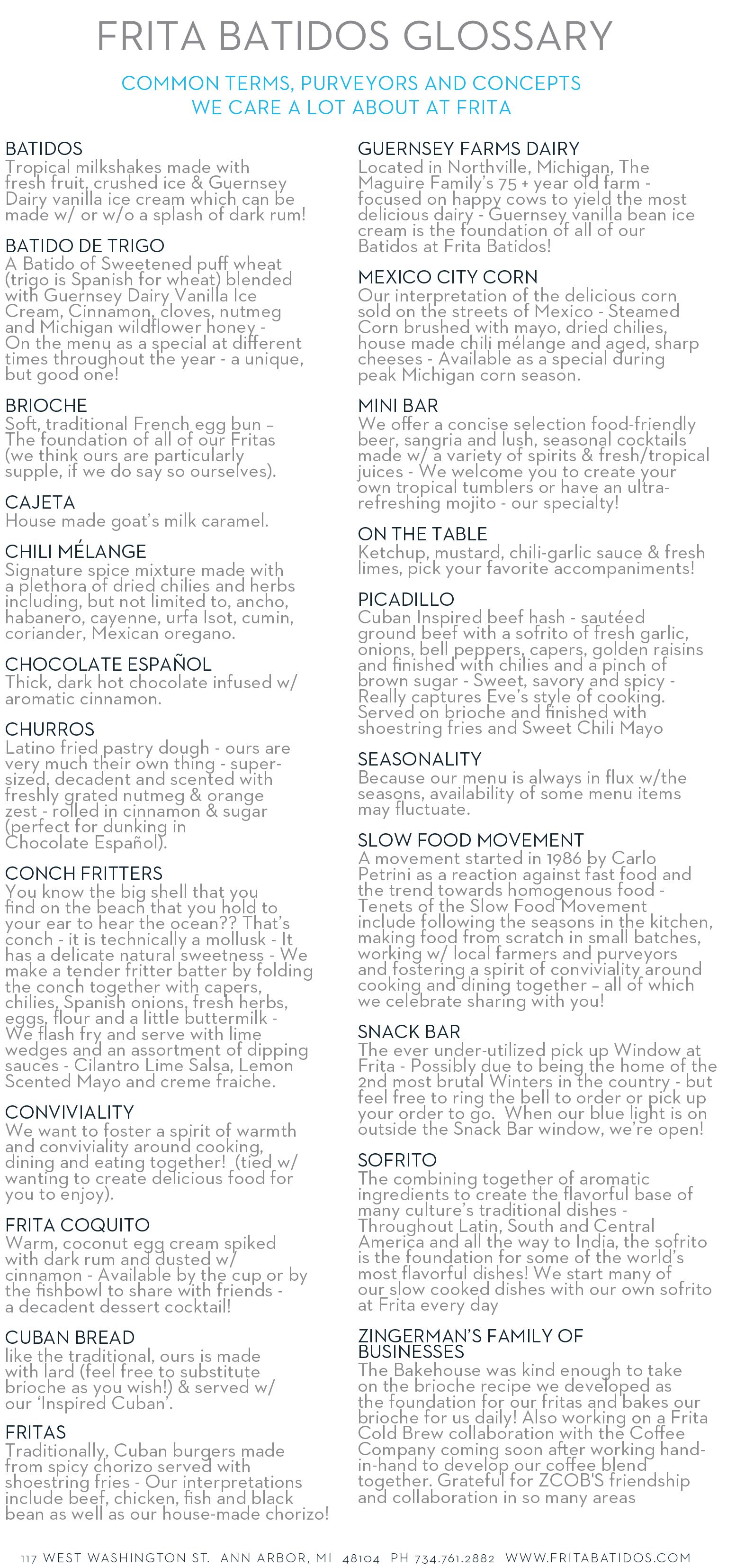 Frita Menu Guide 2
